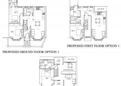 3 Proposed Floor Plans-Option 1 Bournemouth Road-3777x3411