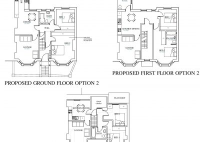 4 Proposed Floor Plans- Option 2 Bournemouth Road-3754x3384